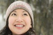 Beauty Woman in the snow — Stock Photo