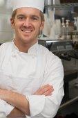 Portrét kuchař — Stock fotografie
