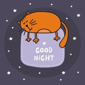 Disegno di carta vettoriale gatto felice — Vettoriale Stock