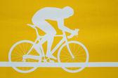 Cyklista na kole — Stock fotografie