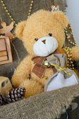 Winter holidays decorative items — Stock Photo