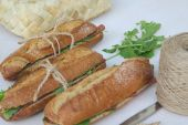 Sandwiches with rucola — Stock Photo