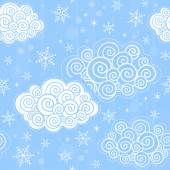Seamless pattern with winter sky — Stock Photo