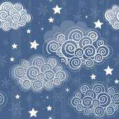 Seamless pattern with winter sky — Stock Vector