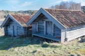 Two old boathouse — Stock Photo