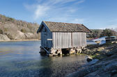 Old boat house — Stock Photo
