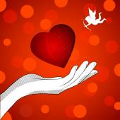 Heart cupid — Stock Vector