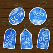 Sale labels set. — Stock Vector