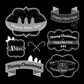 Collection of Christmas labels — Stock Vector
