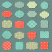 Stickers with polka dot pattern — Stock Vector