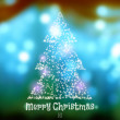 Christmas tree from the luminous elements — Stock Vector #69928477