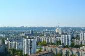 Panoramic view of Kyiv streets and roofs — Stock Photo