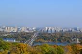 Beautiful view of Kyiv city in autumn — Stock fotografie
