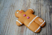 Christmas cookie man made of ginger bread — Stock Photo