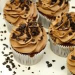 Chocolate cupcakes with brown cream — Stock Photo #59325427