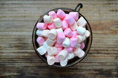 Lots of little marshmallows in a cup — Stock Photo