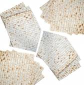 Traditional jewish bread matzo isolated on white — Stock Photo
