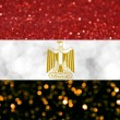 The National flag of Arab Republic of Egypt made of bright and abstract blurred backgrounds with shimmering glitter — Stock Photo #70447033