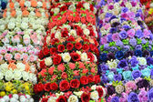 Wedding wreaths with roses and other flowers — Stock Photo