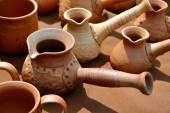 Lots of handmade clay pots — Stock Photo