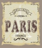 Greeting card from paris — Stock Vector