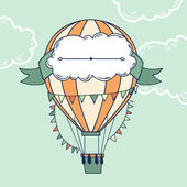Air balloon with party ribbon — Vetorial Stock