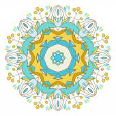 Abstract colorful Mandala. Decorative element for design. Vector illustration — Stock Vector