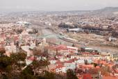 Panoramic bird view of Tbilisi — Stock Photo