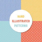 Pack of vector hipster seamless patterns. — Stock Vector