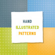 Collection of hand draw vector patterns. — Stock Vector #52821291
