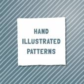Vector hand-illustrated seamless texture. — Stock Vector