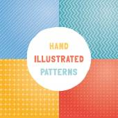 Collection of hand draw vector patterns.  — Stock Vector
