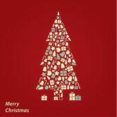 Vector Christmas card. Original Christmas background in fresh co — Stock Vector