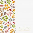Vector autumn template. Modern stylized colorful leafs. — Stock Vector #55322131