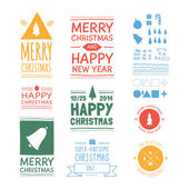 Vector Christmas badges.  — Stock Vector