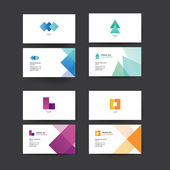 Vector abstract business cards.  — Stock Vector