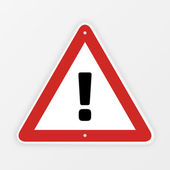 Exclamation mark roadsign. — Stock Vector