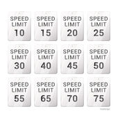 Speed limit sign. — Stock Vector