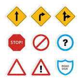 Collection of universal roadsigns. — Stock Vector