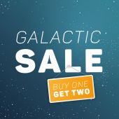 Galactic sale illustration. — Vector de stock