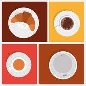 Breakfast vector objects. — Stock Vector