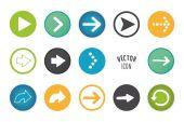 Arrow button set. — Stock Vector
