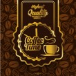 Coffee time label design over vintage background — Stock Vector #52934255