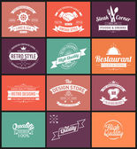 Vintage banners and frames hand drawn set — Wektor stockowy