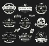 Vintage banners and frames hand drawn set — Stock Vector