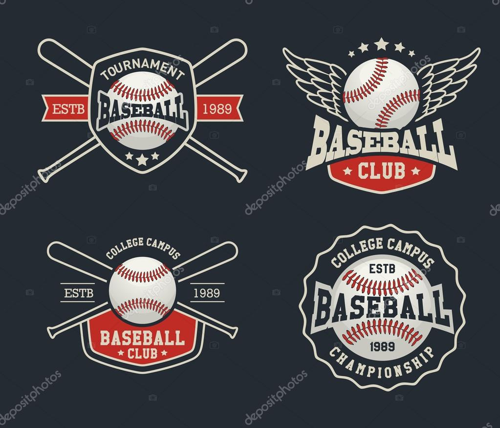 Baseball Badge Logo Design Suitable For Logos, Badge, Banner