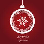 Vector rode kerstmis achtergrond. ontwerp voor een papieren knippen. — Stockvector