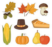 Thanksgiving day vector set — Stock Vector
