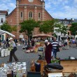 Flea market on Place du Jeu de Balle in Brussels, Belgium — Stock Photo #52694769