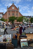 Flea market on Place du Jeu de Balle in Brussels, Belgium — Stock Photo